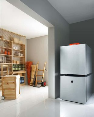 Öl-Brennwert-Kompaktgerät mit integriertem Warmwasserspeicher Vitocell 300-H